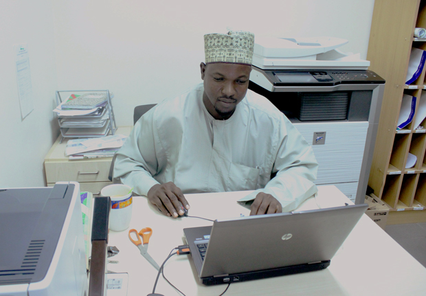 Mohammed Ahmed at work